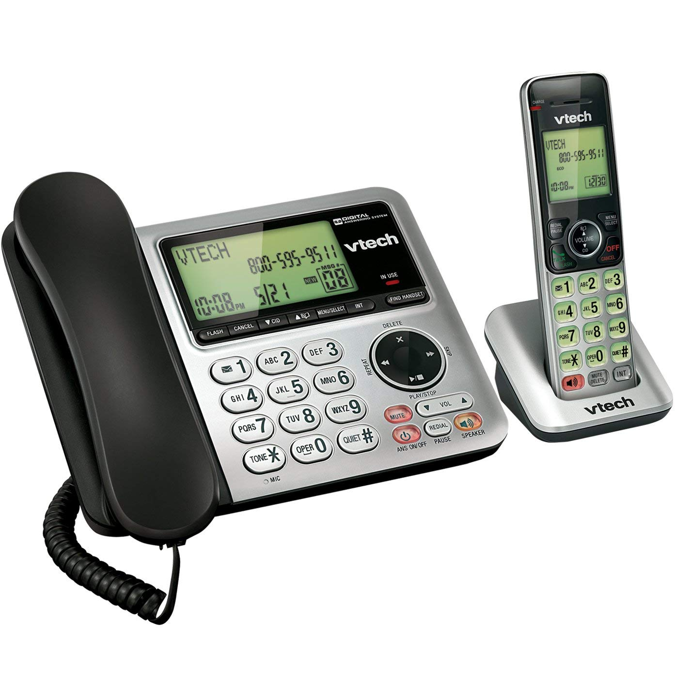 VTech CS6649 Expandable CordedCordless Phone System with Answering System