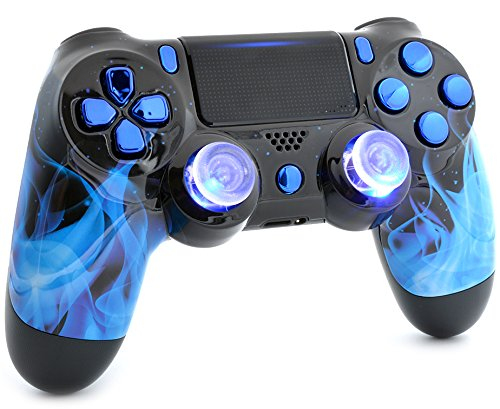 Blue Fire Ps4 PRO Custom UN-MODDED Controller