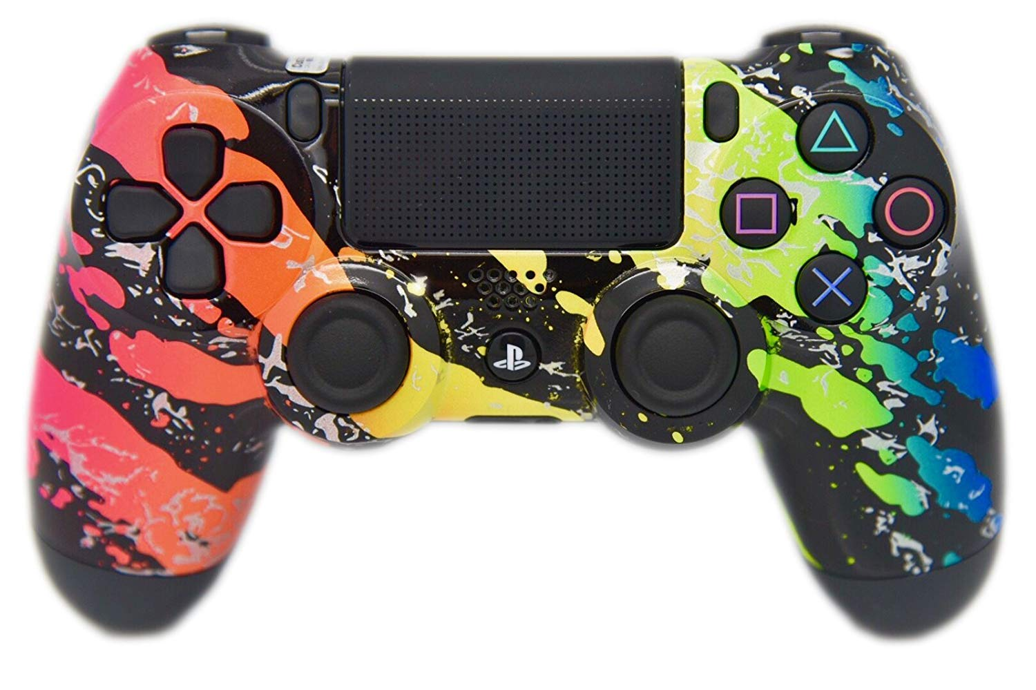 Rainbow Splatter PS4 Custom Controller