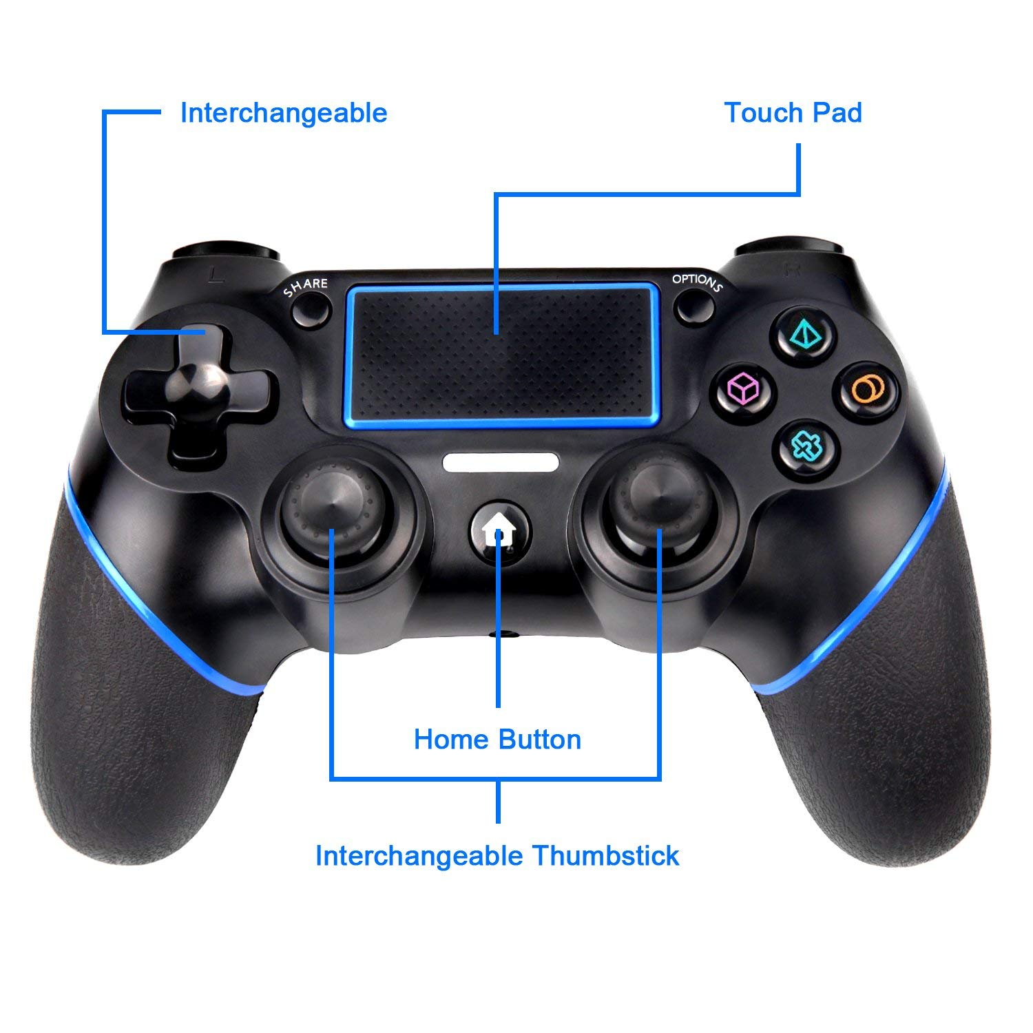SADES C200 Wireless Controller Gamepad for PS4