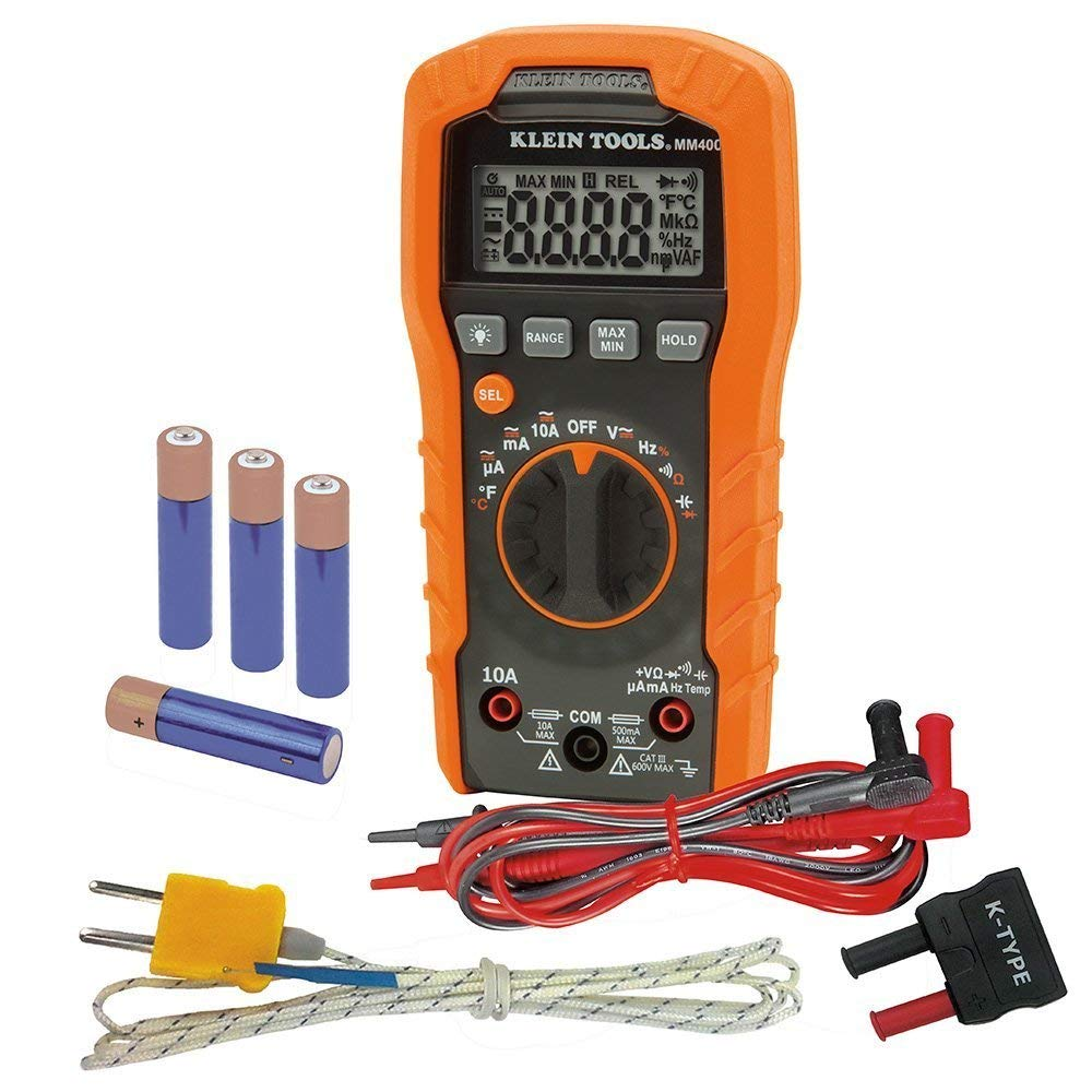 Digital Multimeter, Auto-Ranging, 600V Klein Tools MM400