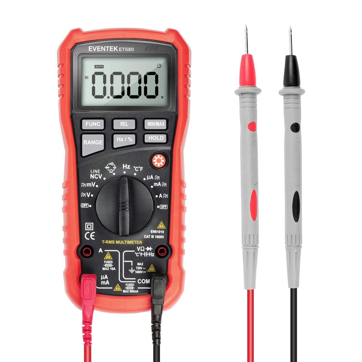 eventek Digital Multimeter, LCD Auto Ranging