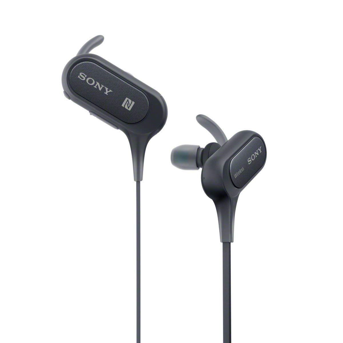 Sony Extra Bass Bluetooth Headphones, Best Wireless Sports Earbuds with Mic Microphone
