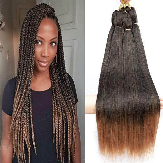 Befunny Crochet Hair Ombre Pre-Stretched Braiding Hair