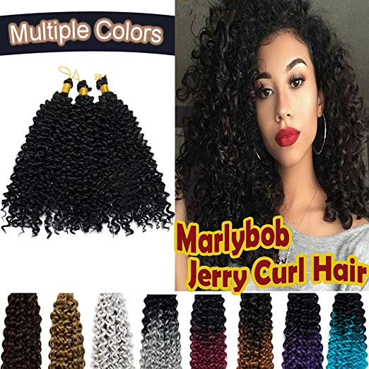 Marlybob Crochet Hair Synthetic Deep Water Wave Braiding Hair Weave Extensions