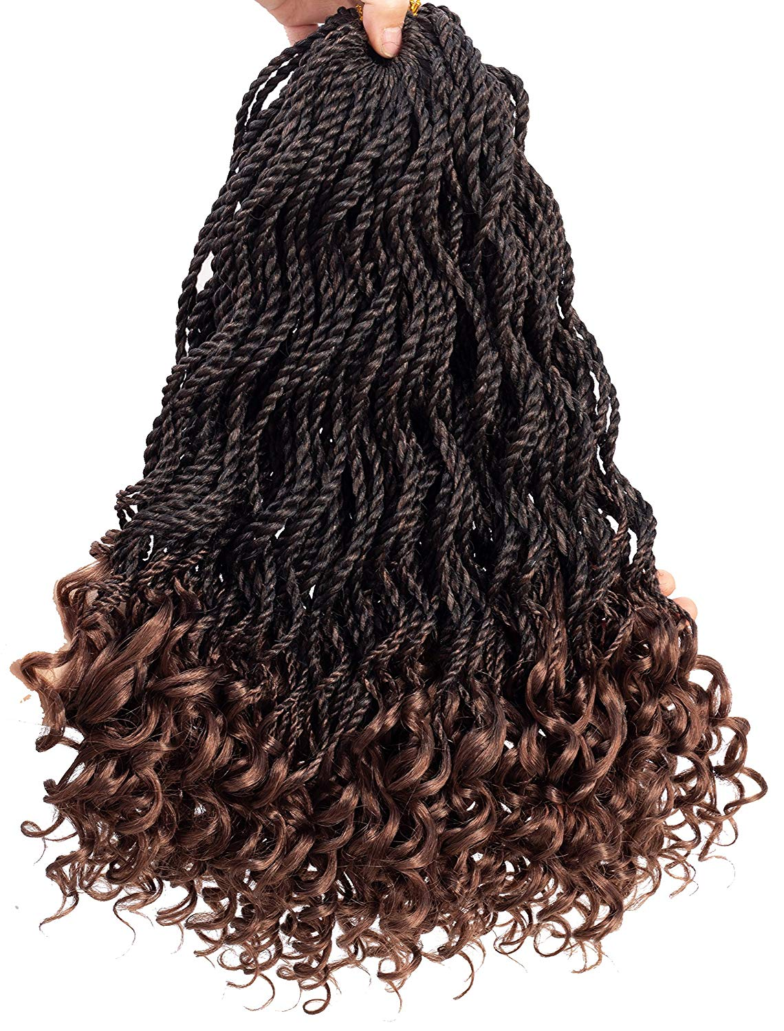 Senegalese Twist Crochet Hair Wave Curly Synthetic Braiding