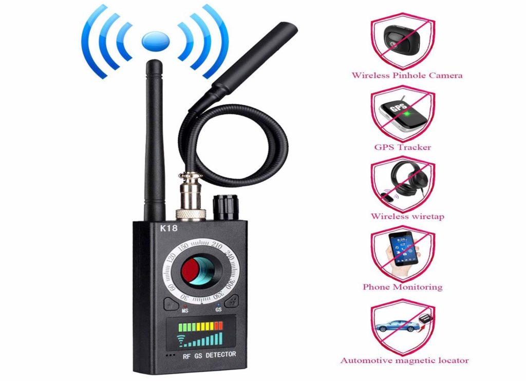 anti-spy wireless rf signal detector
