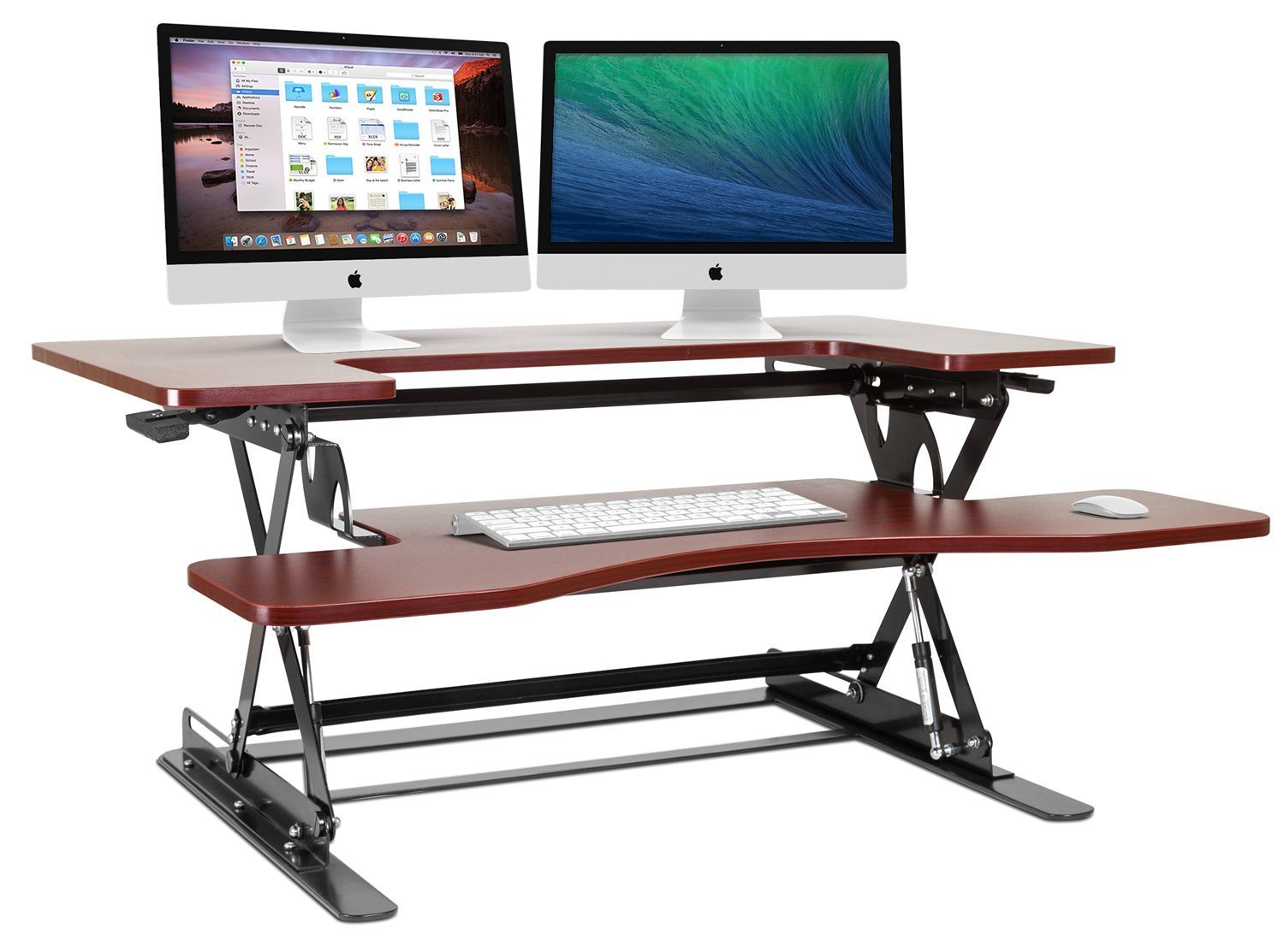 Halter Cherry Height Adjustable Stand Up Desk Preassembled ED-285