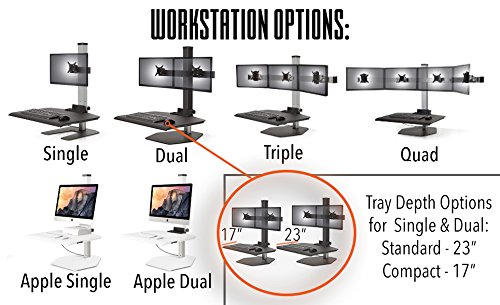 Winston Three Monitor Standing Desk Converter