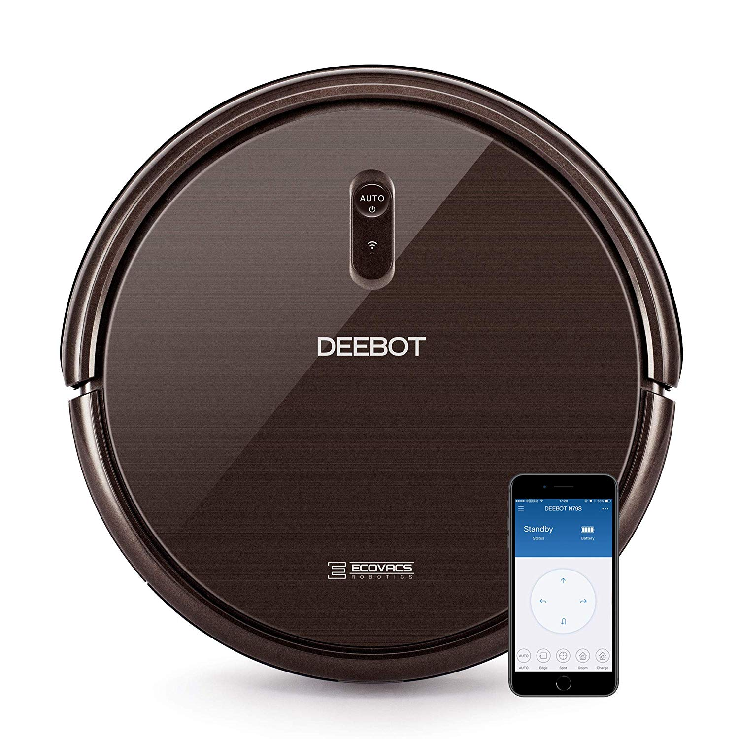 ECOVACS DEEBOT Robotic Vacuum Cleaner for Hard Floors and Carpets