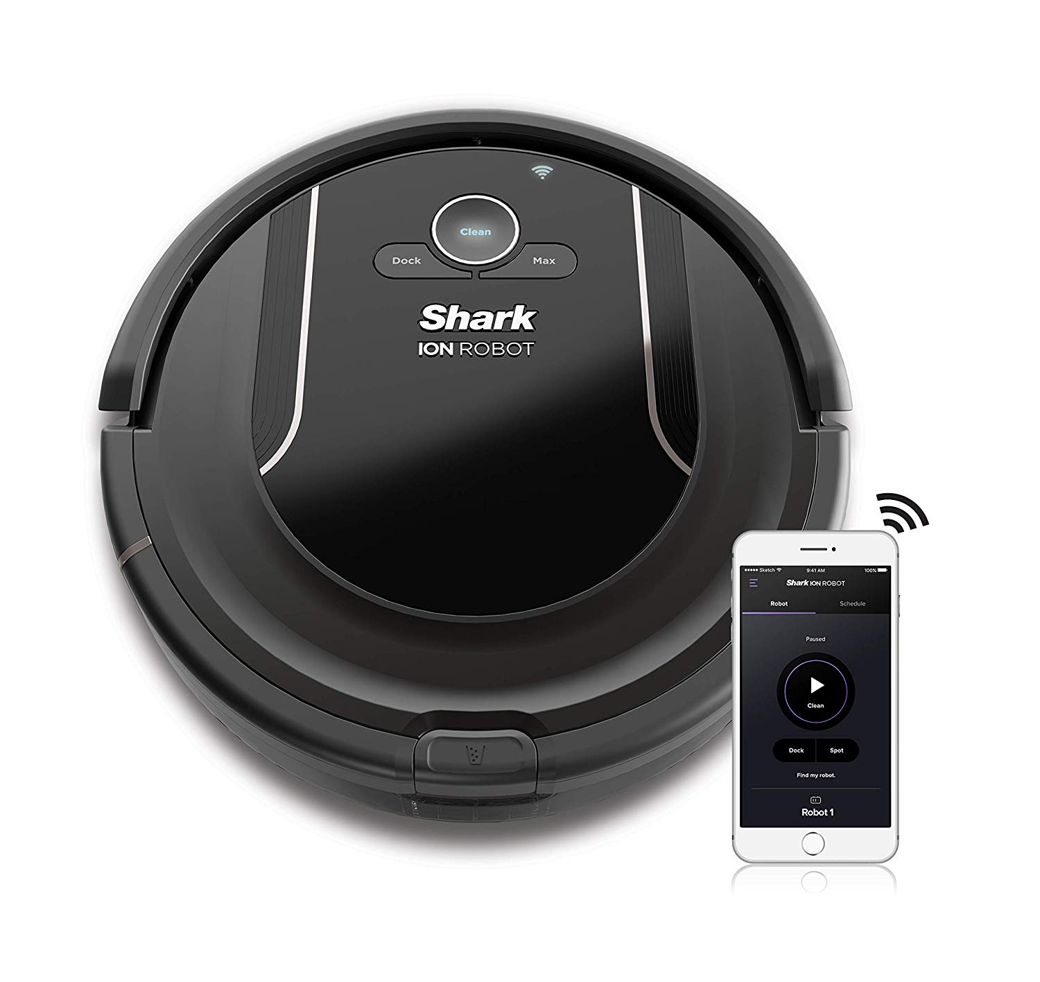 SHARK ION Robot Vacuum WiFi-Connected Self-Cleaning