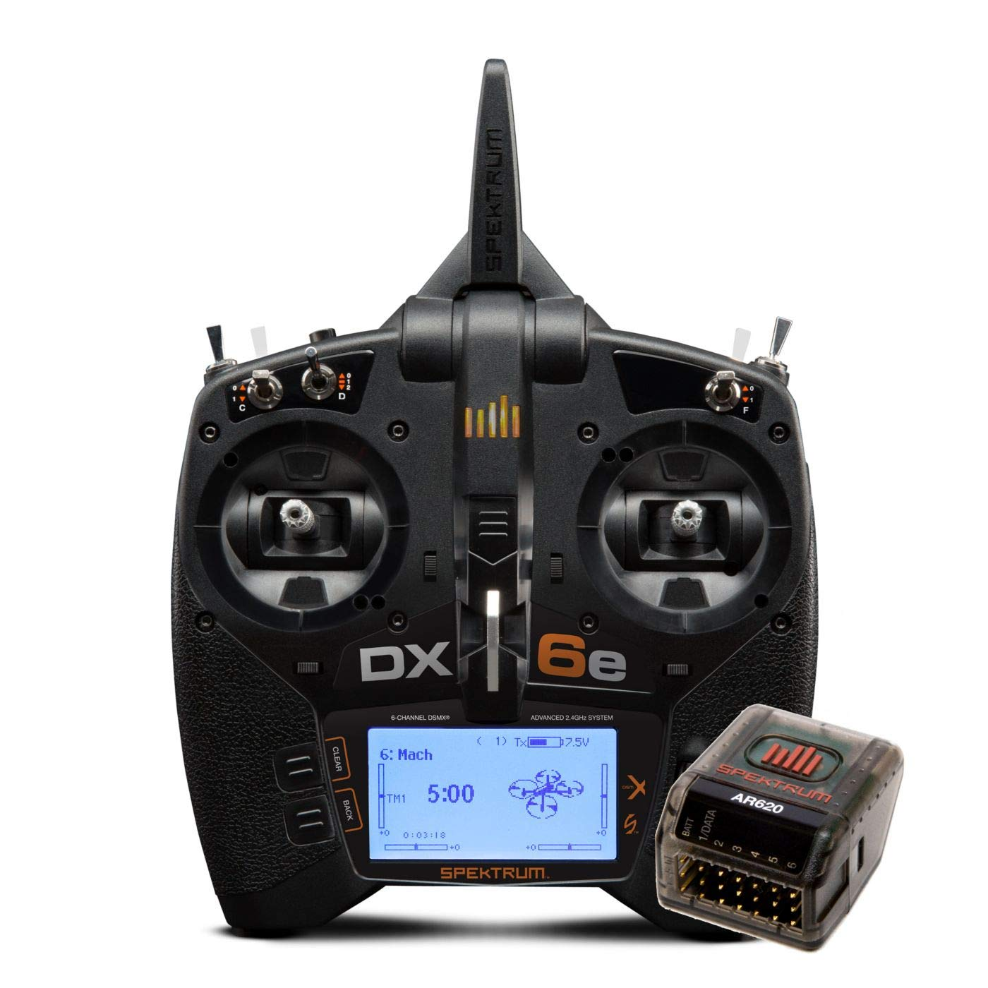 Spektrum DX6e 6-Channel 2.4GHz RC Radio Transmitter System with Receiver Rx