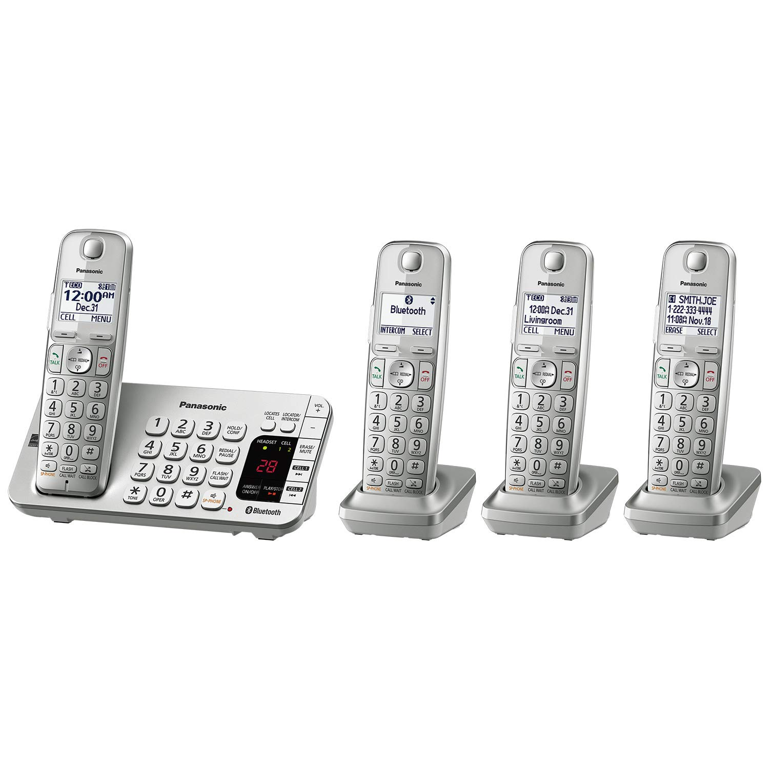 Bluetooth Cordless Phone System with Answering Machine
